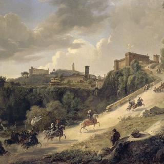1494년 12월 7일, 아쿠아펜덴테로 들어가는 샤를 8세