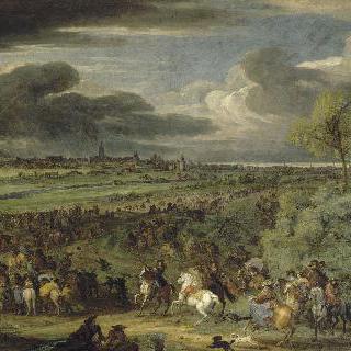 1667년 7월 18일 쿠르트레에서의 왕군의 행진