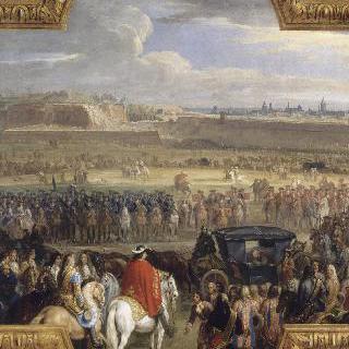 캉브레 요새의 항복을 받는 루이 14세