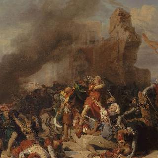 살라딘이 점령한 자프 성을 재탈환한 영국왕 리차드 쾨르 드 리옹