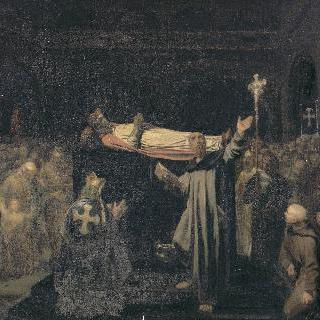 생-드니에서 거행된 다고베르의 장례식 639년 1월