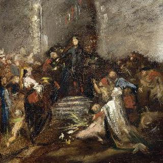 1867년 만국박람회에서 상을 내리는 황태자