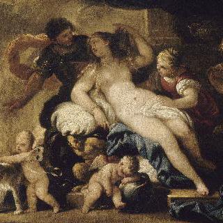 불카누스의 대장간에 온 비너스와 아레스