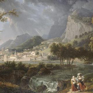 알프스와 이탈리에서 작업한 습작들로 구성된 풍경
