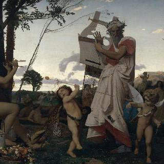 아나크레온, 바쿠스와 에로스