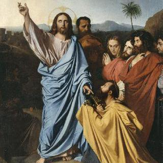 천국의 열쇠를 성 베드로에게 돌려주는 예수