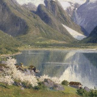 노르웨이 봄의 피요르드, 1896년