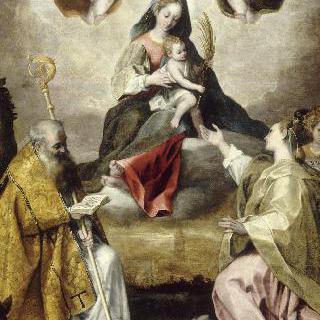 성 앙투안, 성녀 루시와 함께 있는 성모와 아기예수