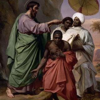 예루살렘에서 가사로 가는 길에서 에디오피아 여왕의 내시에게 침례를 주는 성 필립보