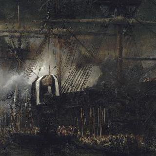 나폴레옹 1세의 관을 실은 배의 정박