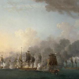 루이스부르그 부근에서 벌어진 해전 (캐나다 캡-브르통 섬)