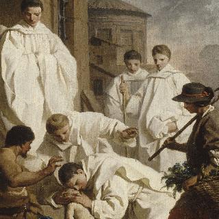 아이를 치료하는 성 베네딕토