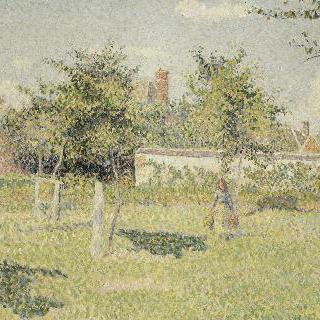 밭에 있는 여인 (에라니의 초원에 비추는 봄의 햇살)
