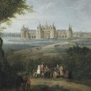 1722년 경 샹보르 성 풍경 - 사냥을 하기위해 명령을 내리는 오를레앙 공작