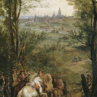 1667년 7월 19일, 쿠르트레를 정복한 루이 14세