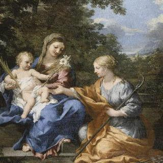 성모와 아기예수, 성녀 마르틴