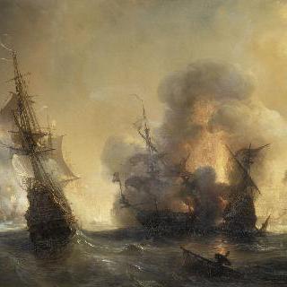 장 바르와 투르빌 백작의 스미른 영국 함대 공격