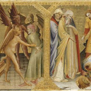 피렌체의 산타 마리아 데글리 안젤리 교회의 노빌리 예배당 제단 뒤의 장식벽 그림