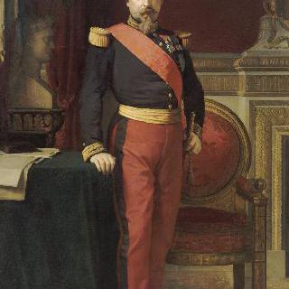 튈르리 궁전의 그랑 카비네에서 분함대장의 복장을 입은 나폴레옹 3세
