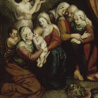 성녀 안나, 성녀 엘리자베스, 어린 성 요한 밥티스트와 함께 있는 성 가족