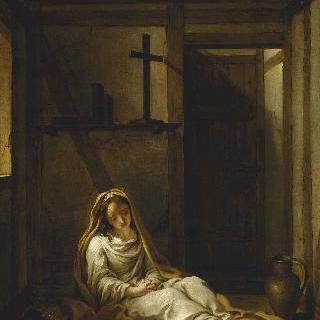 독방에서 기도하는 성녀 타이스