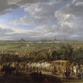 1667년 7월 30일, 루이 14세와 왕비 마리-테레즈의 성대한 아라스 입성