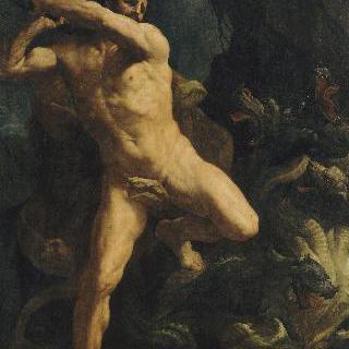 레르나의 히드라를 살해하는 헤라클레스