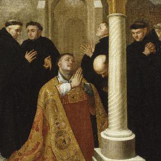 스타벨롯 수도원에서 기도하는 성 랑베르