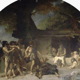 신석기시대, 곰사냥하고 돌아오는 길