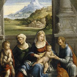 성녀 엘리자베스, 성 요셉과 함께 있는 성가족
