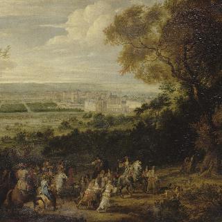 뱅센 성 풍경 (루이 14세의 사냥 출정)