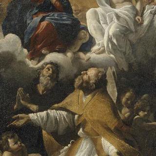 성 아우구스티누스과 성 기욤 다퀴텐이 있는 성모의 대관식