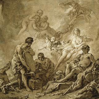 불카누스의 대장간 (그리자유 기법의 초벌화)