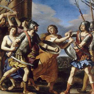 로물루스와 타티우스를 갈라놓는 헤르실리아