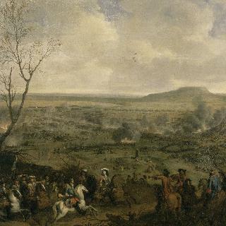 1677년 4월 11일, 카셀 산 부근에서 전투를 시작하는 루이 14세