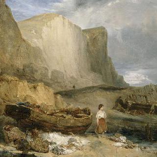 노르망디 해안의 풍경