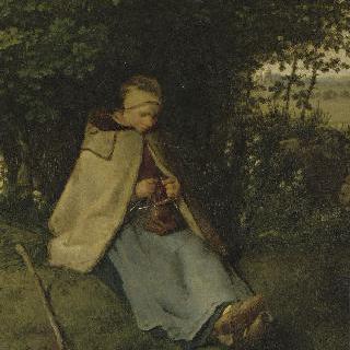 뜨개질하는 여인