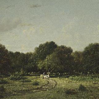 라 오트 퓌테의 수림 : 퐁텐블로의 숲 혹은 짐수레 이미지