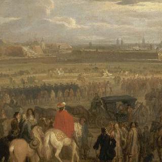1677년 4월 18일, 캉브레 요새의 항복을 받는 루이 14세