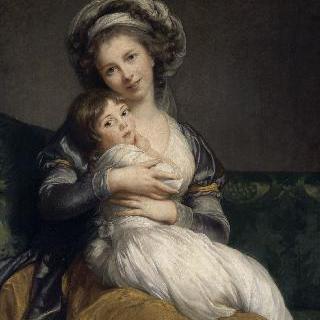비제-그 브룅과 그녀의 딸, 잔 마리-루이즈(1780-1819)