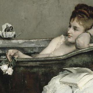 목욕 (욕조 안의 여인)