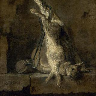 죽은 토끼와 사냥 도구 (사냥 가방과 화약통 옆의 죽은 토끼)