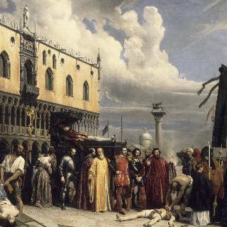 1576년 흑사병이 돌던때 치뤄진 티치아노의 장례식