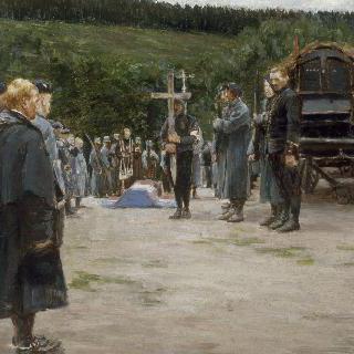 보주 지방, 어느 장교의 장례식
