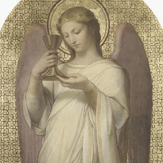 성배를 들고 있는 천사, 엘리제 궁 교회의 장식화