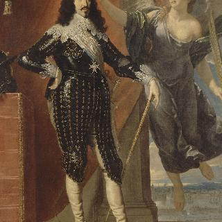 승리의 여신으로부터 면류관을 받는 프랑스의 왕 루이 13세