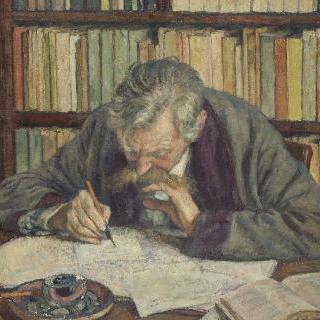 시인 에밀 베르아렝의 초상(1855-1916)