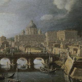 산탄젤로 성이 있는 로마 풍경