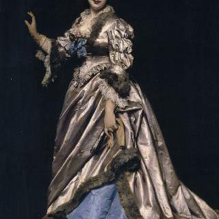 개와 있는 에른스트 페도 부인의 초상