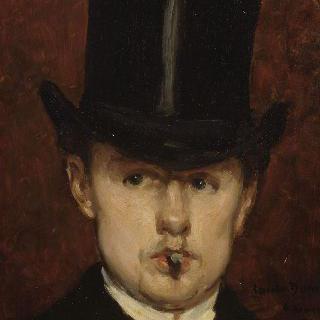귀스타브 탕펠라에르의 초상, 담배를 문 남자